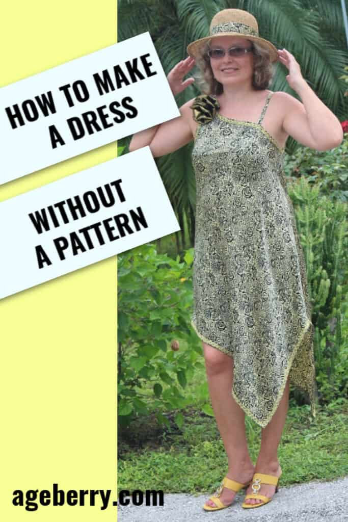 how to make a dress without a pattern