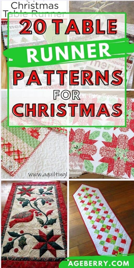 Christmas table runner patterns to sew