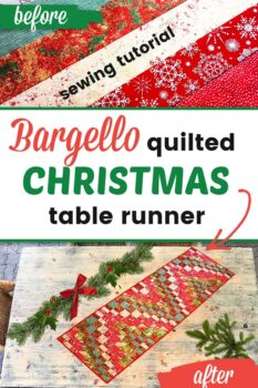Bargello table runner pattern and tutorial