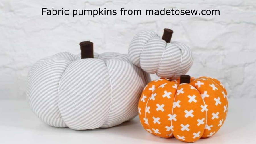 fabric pumpkins how to make