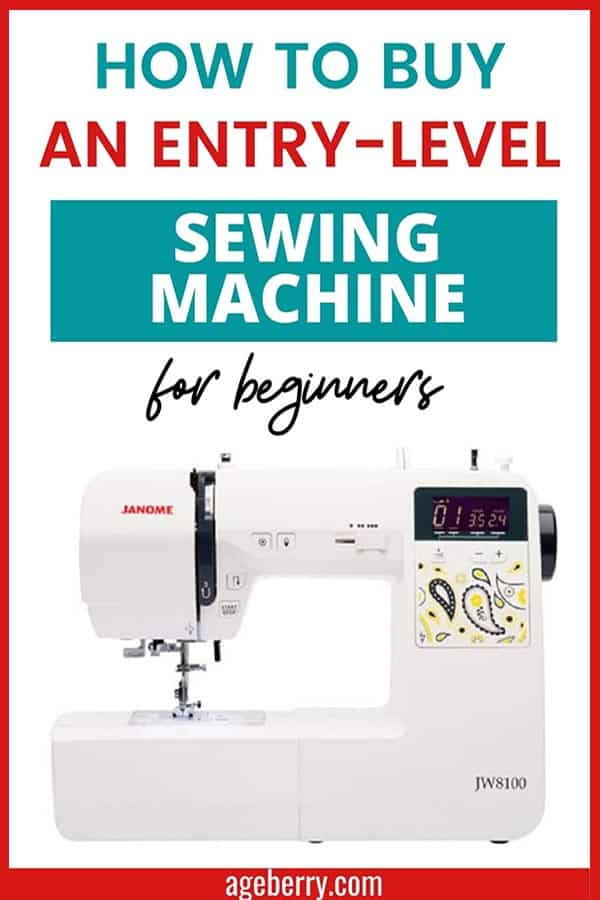 how to buy an entry-level sewing machine for beginners