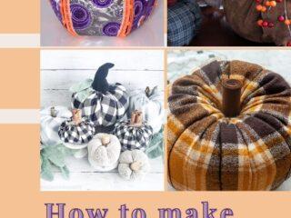17 Ways to Make a Fabric Pumpkin