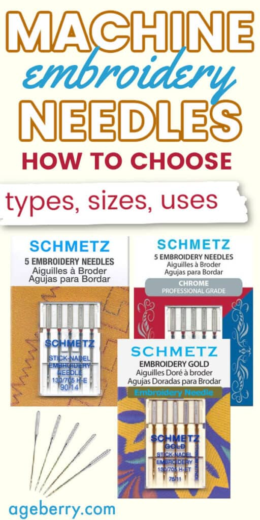 machine embroidery needles guide