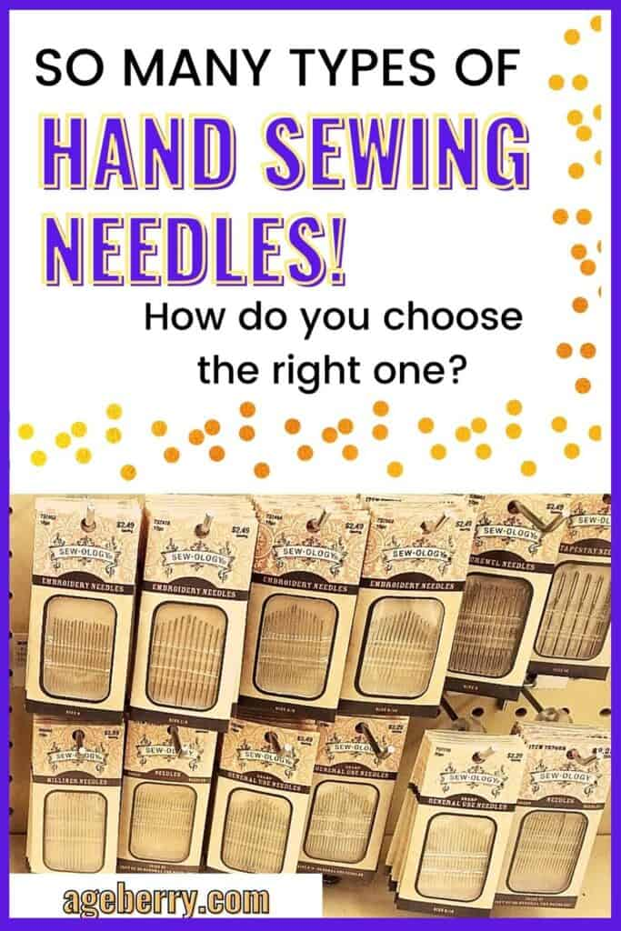 types of hand sewing needles