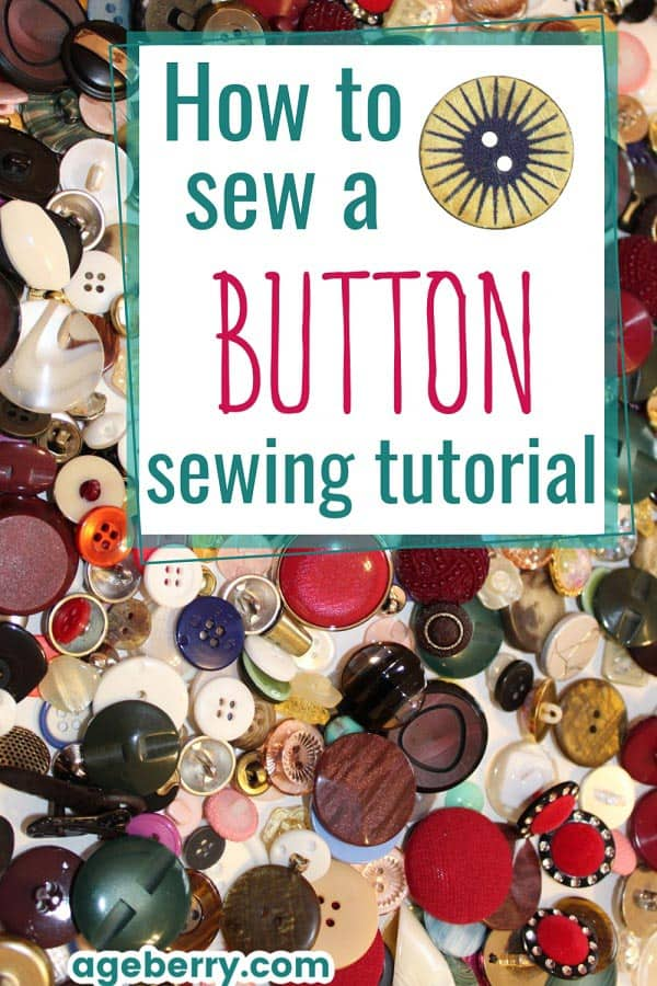 Learn how to sew a button by hand with my step-by-step sewing tutorial