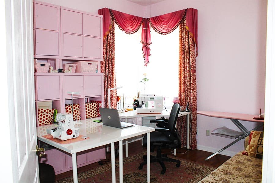 IKEA sewing room organization