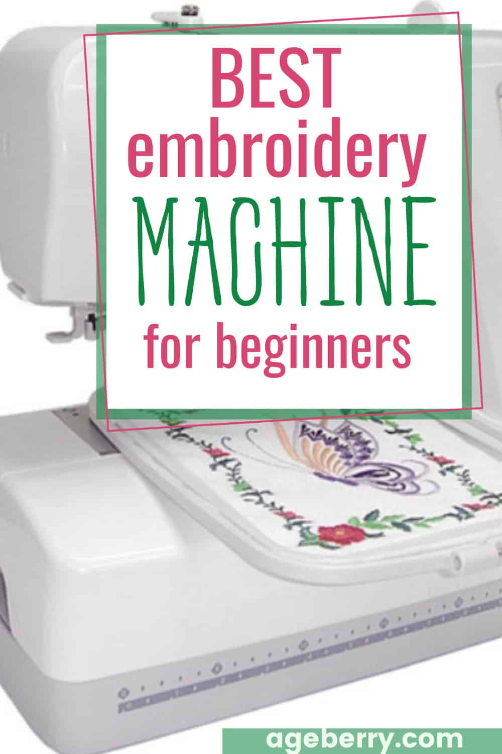 embroidery machine for beginners guide