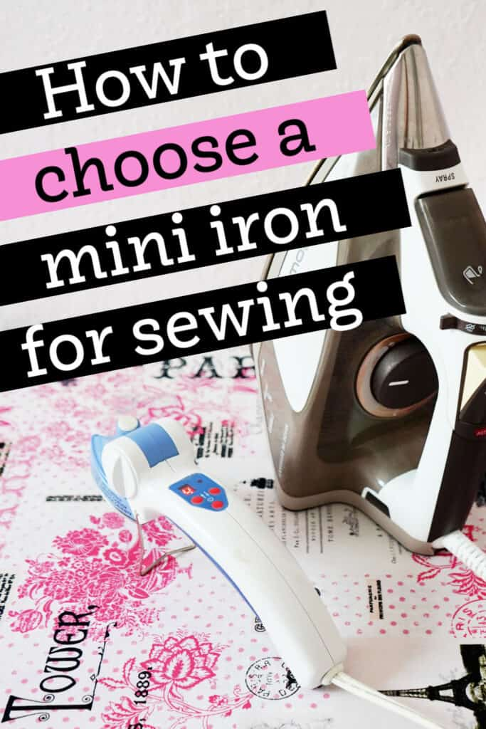 mini iron for sewing guide