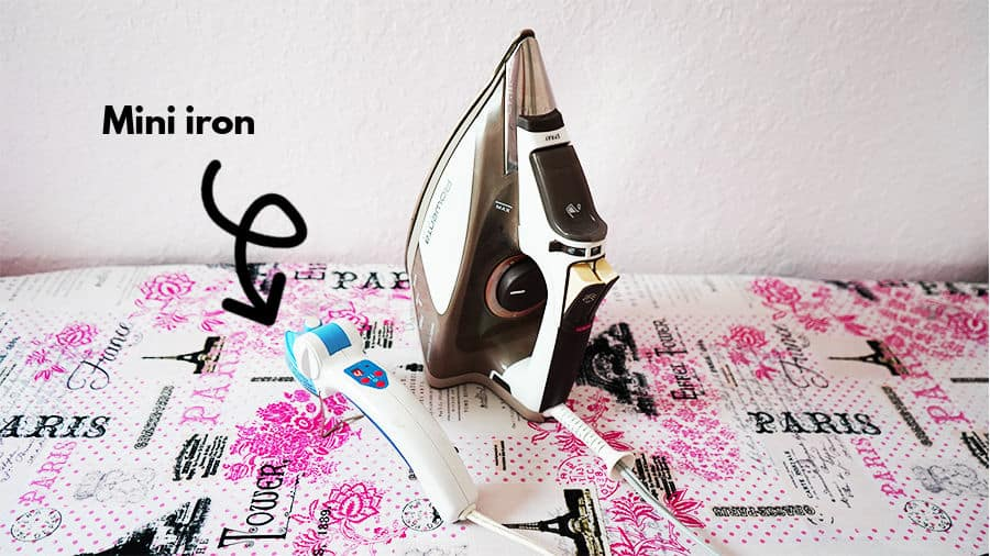 Mini iron for sewing is different than a regular full-size iron and can be used for small sewing and quilting projects.