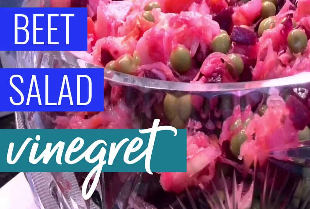 Russian Beet Salad {vinaigrette, Russian vinegret}