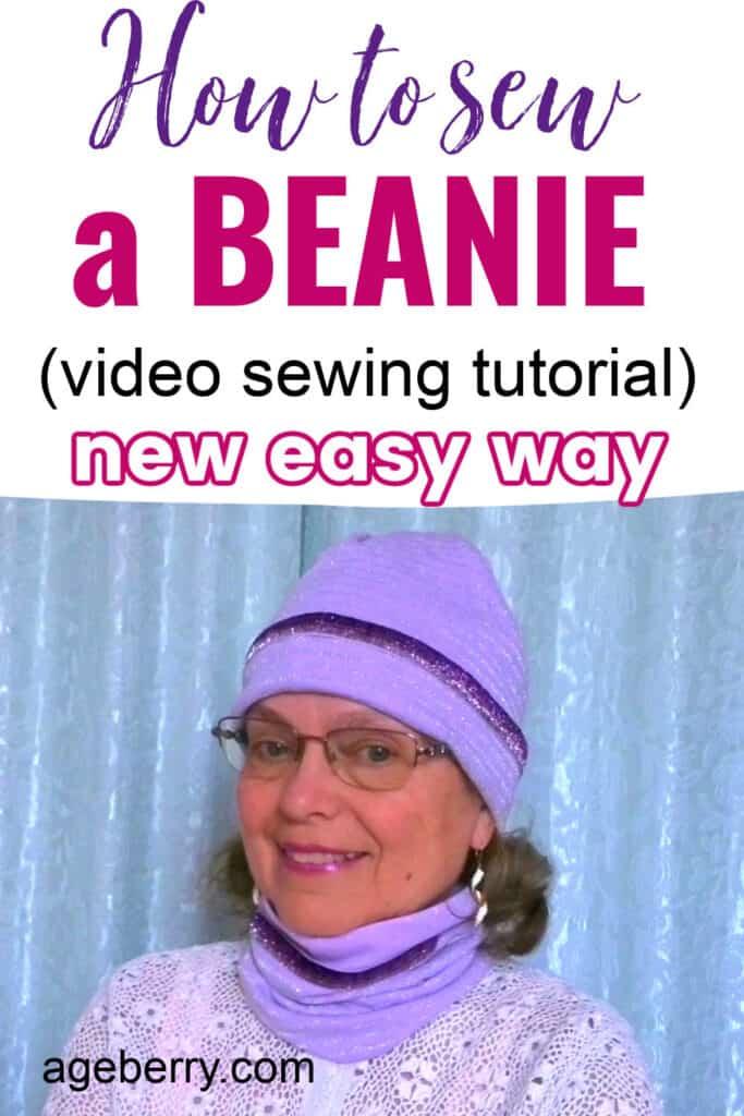 Sewing tutorial on making DIY beanie