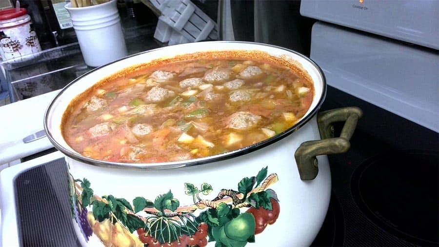 Frikadelki - Russian Meatball Soup Recipe