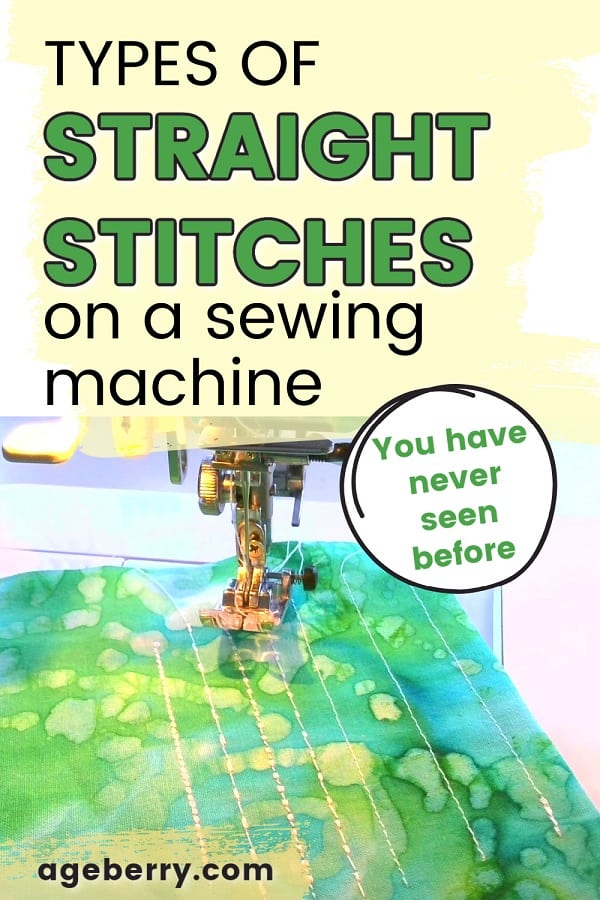 Types of straight stitches on a sewing machine