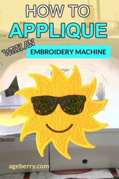 Brother Luminaire tutorials: How to applique with an embroidery machine