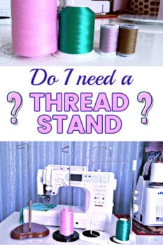 Thread stand for sewing machine tutorial