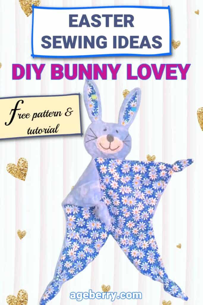 How to make a lovey blanket - DIY bunny lovey