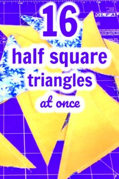 How To Make Half Square Triangles (A Brother Luminaire Tutorial)
