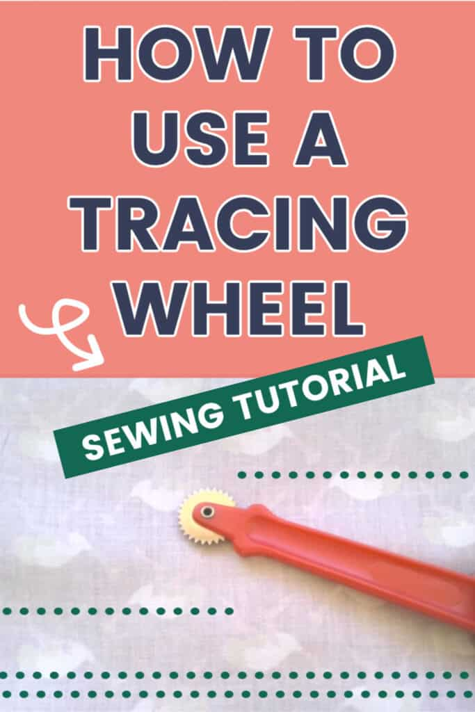 Tracing wheel in sewing