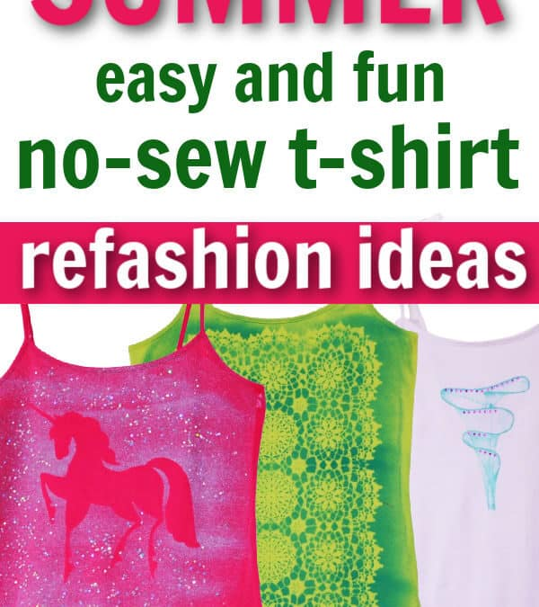 No-sew t-shirt alterations
