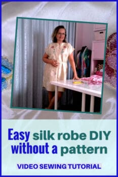 How to make a robe without a pattern from pure silk fabric