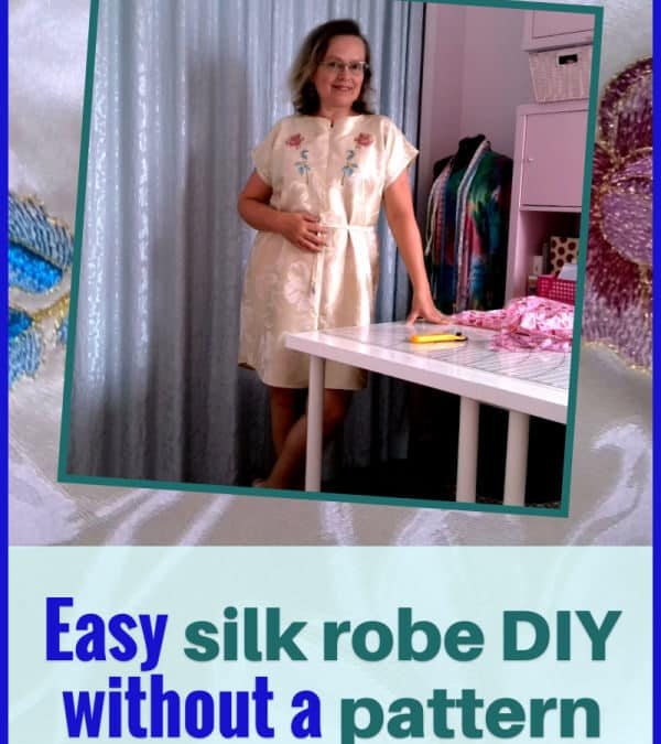 How to make a robe without a pattern from silk fabric / a video sewing tutorial