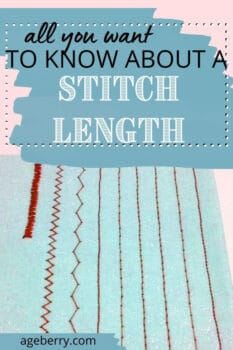 what is the stitch length and how to adjust it for different fabrics