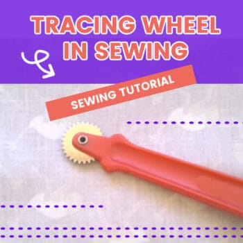 Tracing wheel in sewing - how to use