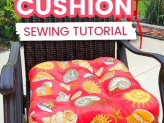 Sewing tutorial on how to make a chair cushion