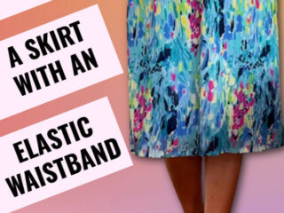 sewing tutorial on how to sew a skirt with an elastic wastband