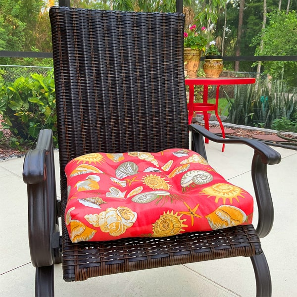 summer sewing project - a DIY chair cushion