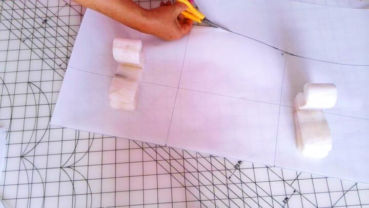 cutting the paper pattern