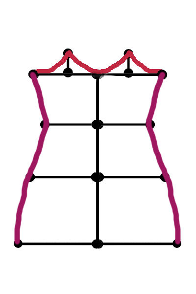Making a bias cut slip dress pattern 7