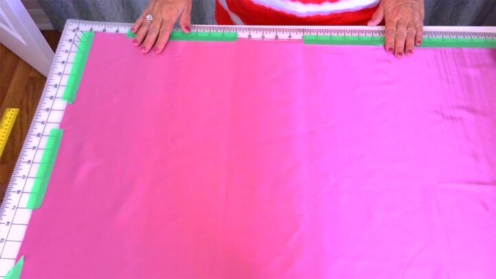 preparing fabric for cutting on the bias
