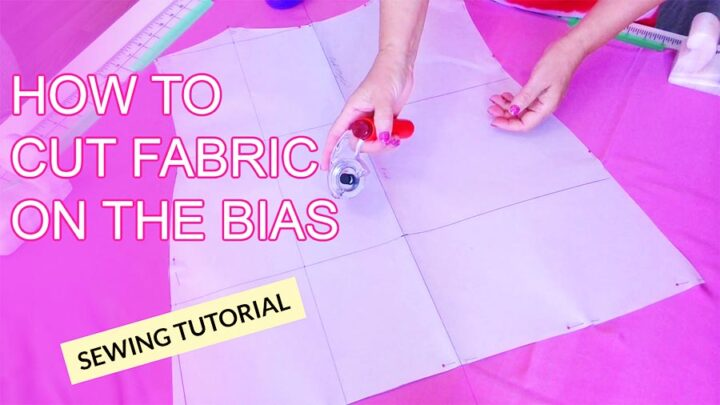 how to cut fabric on the bias sewing tutorial