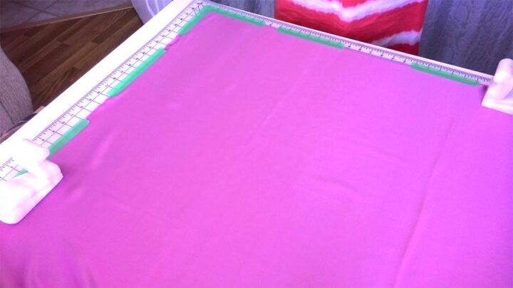 prepare fabric for cutting on the bias