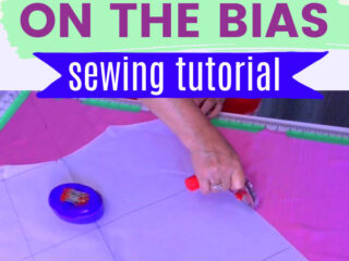 Learn how to cut fabric on the bias