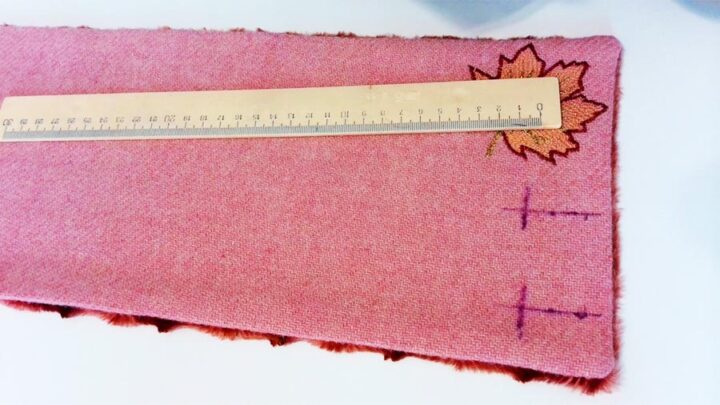 marking two buttonholes