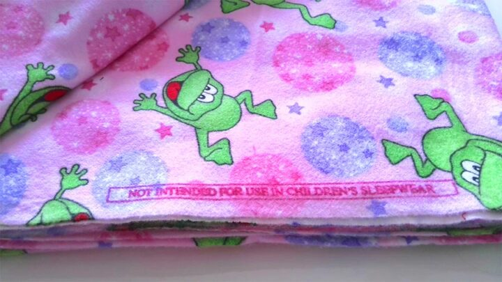 flannel fabric is not intended for children's sleepwear