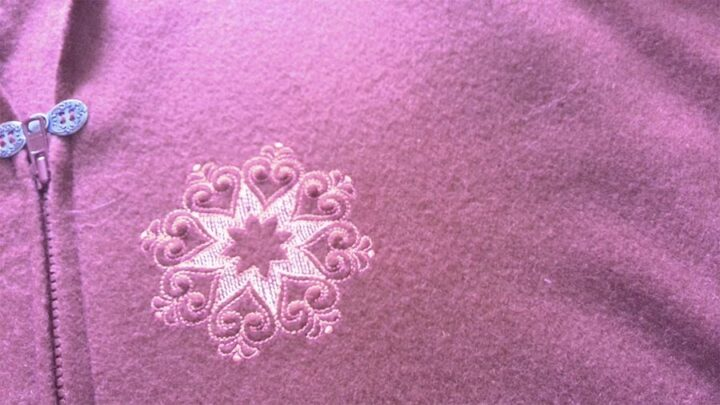 wool flannel fabric with embroidery