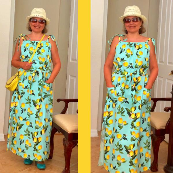 maxi dress DIY without a pattern