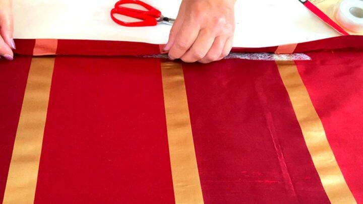 using hem tape for curtains