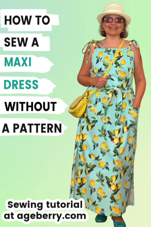 sewing tutorial on how to sew a maxi dress without a pattern