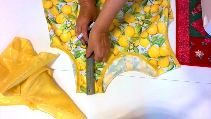 adding the flutter sleeve to my dress