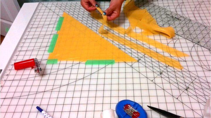 cutting bias strips for a summer dress