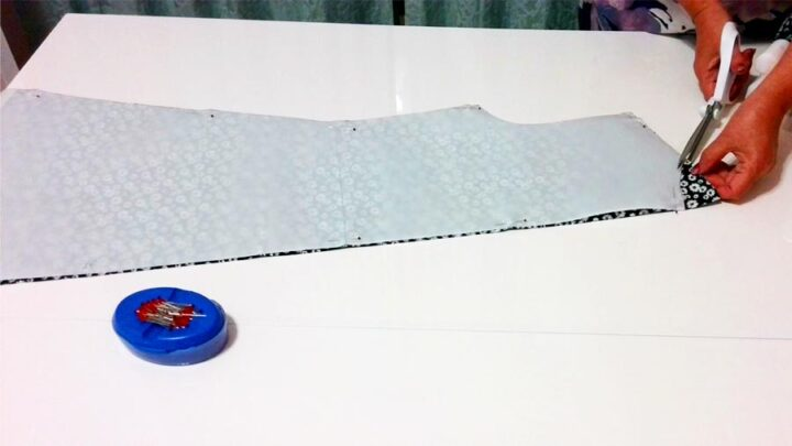 cutting fabric for a wrap dress