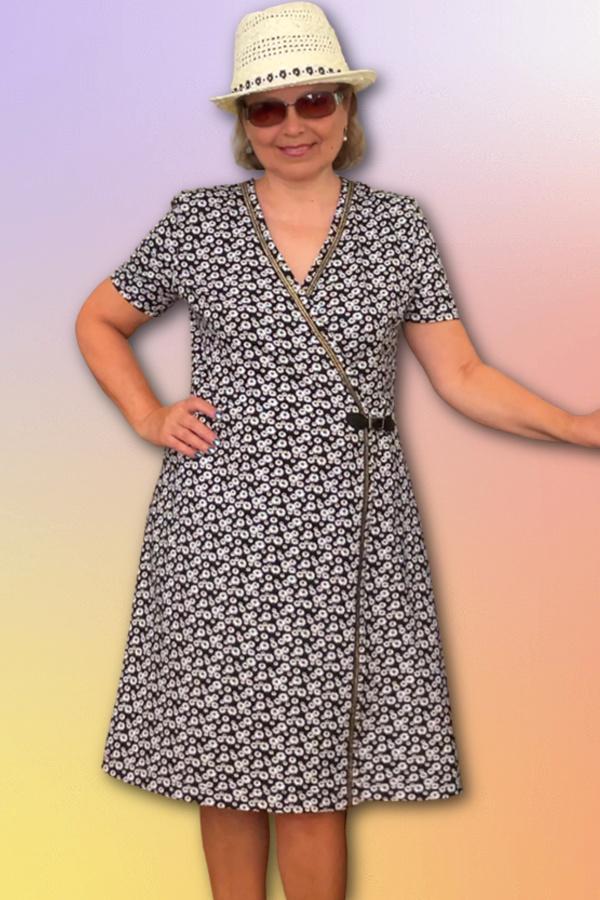 diy wrap dress how to sew