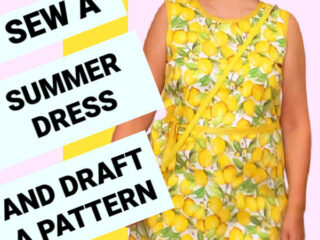 how to sew a summer dress tutorial