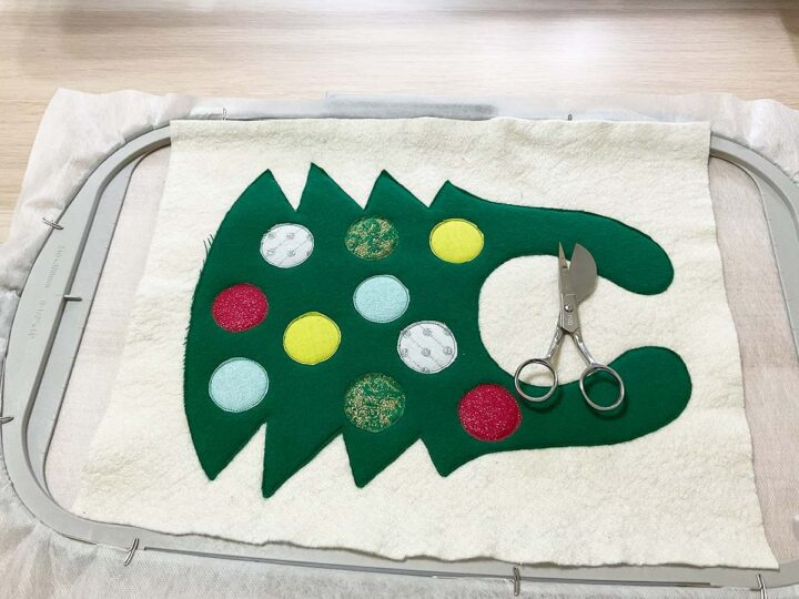 in the hoop embroidery project steps