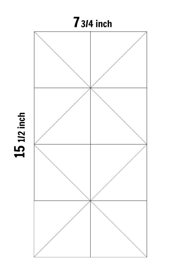 template to make 16 half square triangles at once
