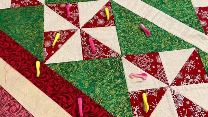 using Clover Wonder sewing pins